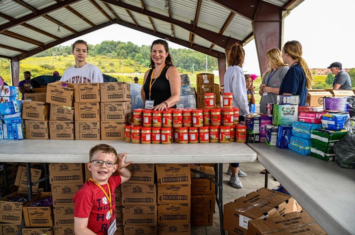 The Pantry Plus More volunteers during a food drive