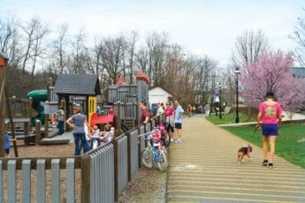 Families and children at Tugboat playground