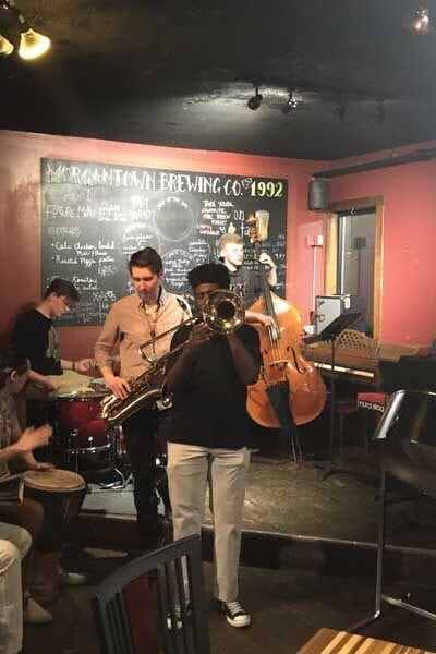 Jazz Band performing in Morgantown Brewing Company