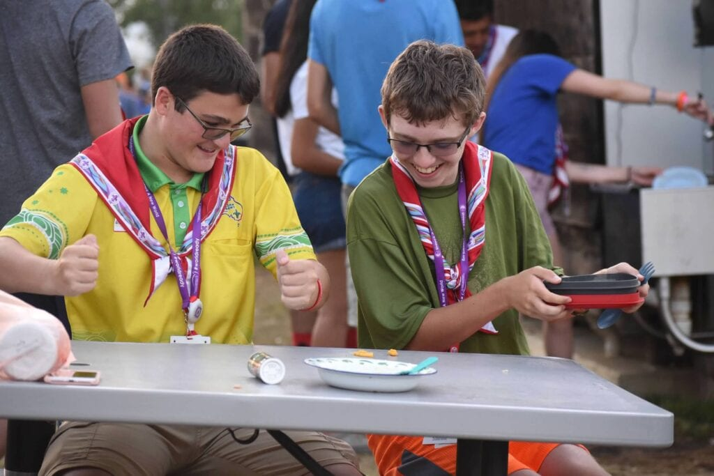 Friendship at the Boy Scout Jamboree