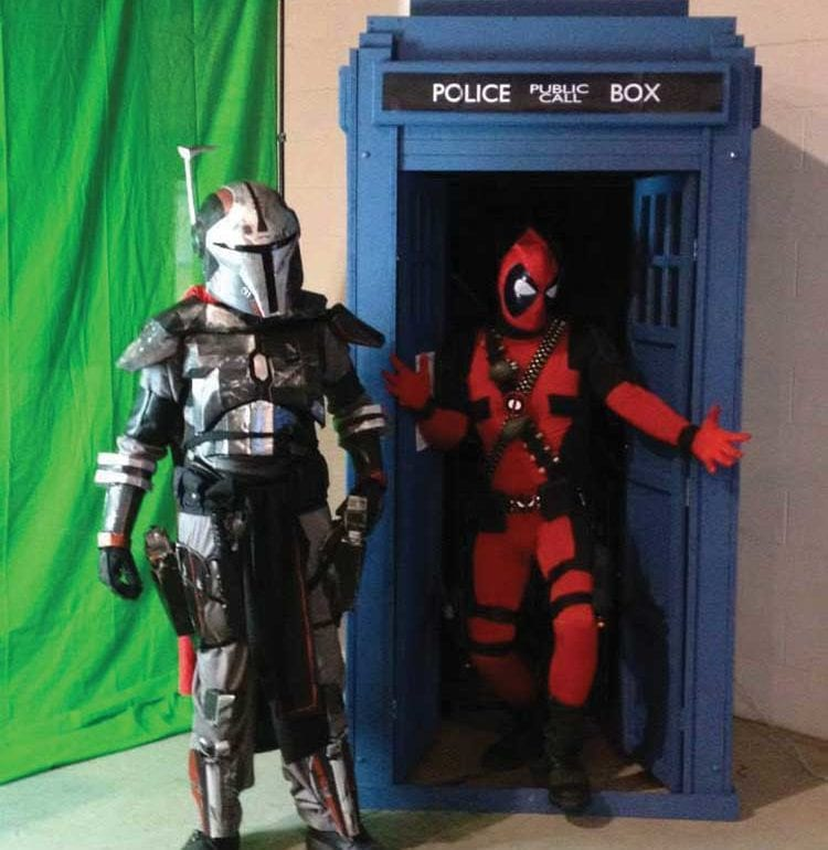 Cosplay characters at Morgantown's Popcon