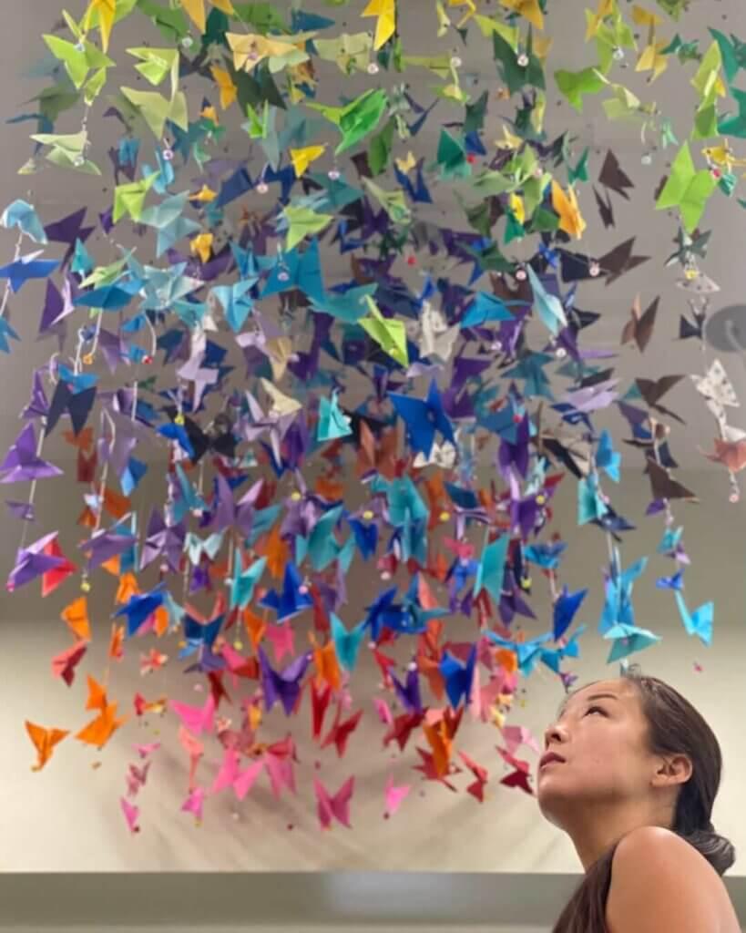 Origami display at West Virginia Botanic Garden