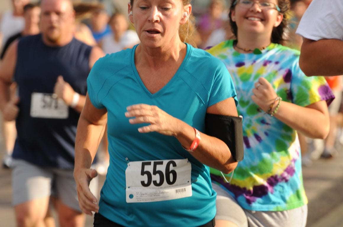 Women running in race
